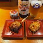 とんかつせんのき - ♦︎肉詰めピーマン 253 ♦︎肉詰めしいたけ 253 ♦︎瓶ビール中キリン一番搾り 605