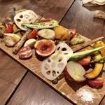 ティグレット - 焼きと和えの野菜盛り