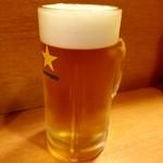 くいものや呂久 - ビール 450円