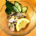 くいものや呂久 - 牡蠣酢 580円