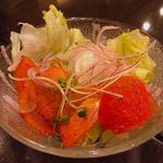 寿浬庵 - トマトサラダ ドレッシングもあっさりで美味しい(^ω^)