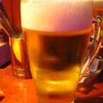 べいらっきょ - 生ビールはアサヒ