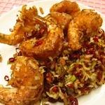 中国料理 大中華 - 海老の黒胡椒炒め