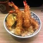 フジヤマ - 天丼 500円 +ご飯大盛り100円