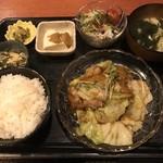 むちゃく - 和風回鍋肉=750円