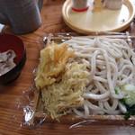 さわだ - 大盛りもり+天ぷら2+肉