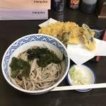 そば敏 - 料理写真:天ぷらそば(冷)850円