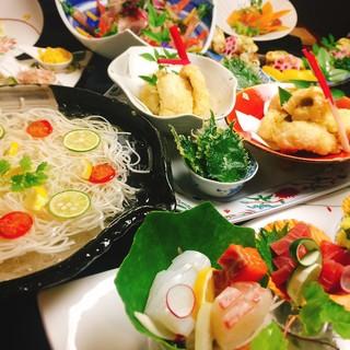 和食はもちろん、本格イタリアンまでプロの料理をご賞味ください