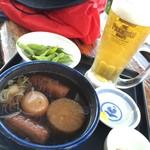 117841720 - 静岡おでん と 生ビールプレミアムモルツ