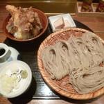 117845285 - '19/10/16 ざるそば&海老付き野菜天丼(税込1,300円)