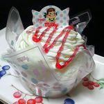 不二家 - 料理写真:苺のミルキーモンブラン¥320