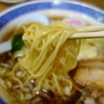 スミレ食堂 - 中細のストレート麺