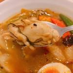 スープカレー マルナ - 大きなカキが5個!入ってました♡