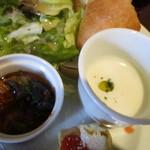 ハージーズ - 本日の野菜(玉葱)の温スープ