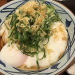 丸亀製麺 - とろ玉うどん 冷 並 アップ(ねぎ しょうが 天かす トッピング)