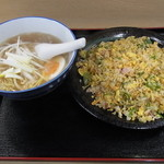 麺家 すな川 - 料理写真:チャーハンラーメンセット