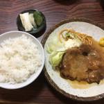 洋食いしだ - ポークソテー定食。これに味噌汁が付いて@1,000円