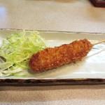 歓酒亭 大安 - 串揚げはプレーンと味噌が選べます