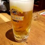 ジョリーパスタ - ドリンク写真:中ジョッキ 528→264円