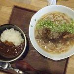 牛テールうどん 和尾 - ミニカレー0円