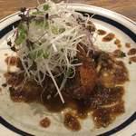 nakamegurogurirusuro-te-buru - 牛タンのカツレツ オリエンタルソースで