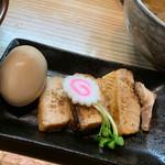 銀座 朧月 - チャーシュー(3枚)+味玉