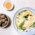 ことぶき食堂 - 親子丼+トリ肝煮750円