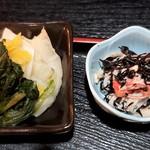 梓川 - 小鉢と漬物