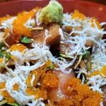 梓川 - 魚のづけ丼。