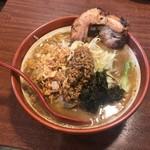麺場 田所商店 - 伊勢味噌野菜ラーメンに炙りチャーシュー1枚トッピング