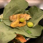 京都 吉兆 - ぐじの焼き物と松茸フライ