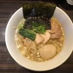 麺や豊 - ・塩そば 860円 ・半熟煮卵 100円