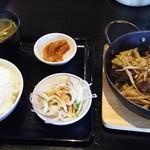 波平食堂 - ハラミ鉄板 定食