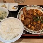 五妹包 - 麻婆豆腐と若鳥揚げ定食