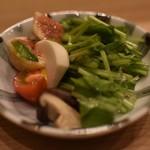 麻布 あみ城 - 秋の野菜サラダ
