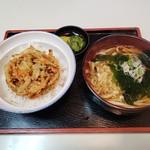 さぬきうどん 石 - 料理写真:かきあげ天丼セット2019.10.20