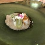 117929815 - 鳥取 秋栄梨と熊本 天然車海老のアミューズ