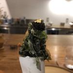 117929826 - 琵琶湖 井保水産の鮎の前菜