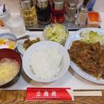 三貴苑 - ♦︎牛スタミナ焼肉 1,000 本日のおすすめ定食 ライス・サラダ・スープ・杏仁豆腐付き