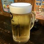 静岡酒場ガッツ - 「生ビール」サッポロ黒ラベル。450円也。