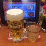 大阪王将 - 最初は生ビールで