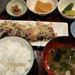 梅仁 - カツオ刺身定食1,250円