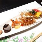 分田上 - 料理写真:前菜盛り合わせ