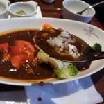 北海道ブラッスリー リラ - リラのカレープレート 道産三元豚と共に1000円税別
