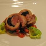 リストランテ フォンタナ - 薩摩赤鶏のロトロ炭火焼きで