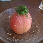 餃子ねじ巻 - 冷やしトマト
