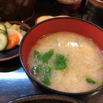 とんかつ 力亭 - 2019.10.19  味噌汁