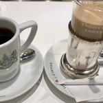 イノダコーヒ - コーヒー(コメダブレンド)とカフェオレ