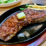 炭火焼きステーキ 肉押し - サガリ。
