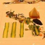 東京會舘 - 帆立貝のムースとジュレのピラミッド仕立て